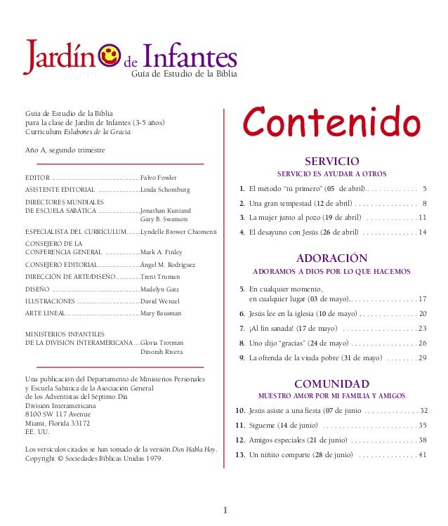 Folleto infantes segundo trimestre 2014 for Leccion jardin infantes 2016