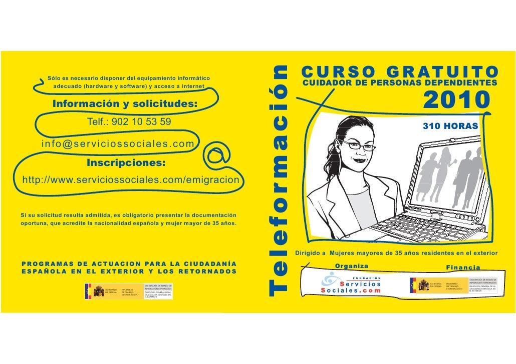 Curso Gratuito de Cuidador de personas dependientes 2010