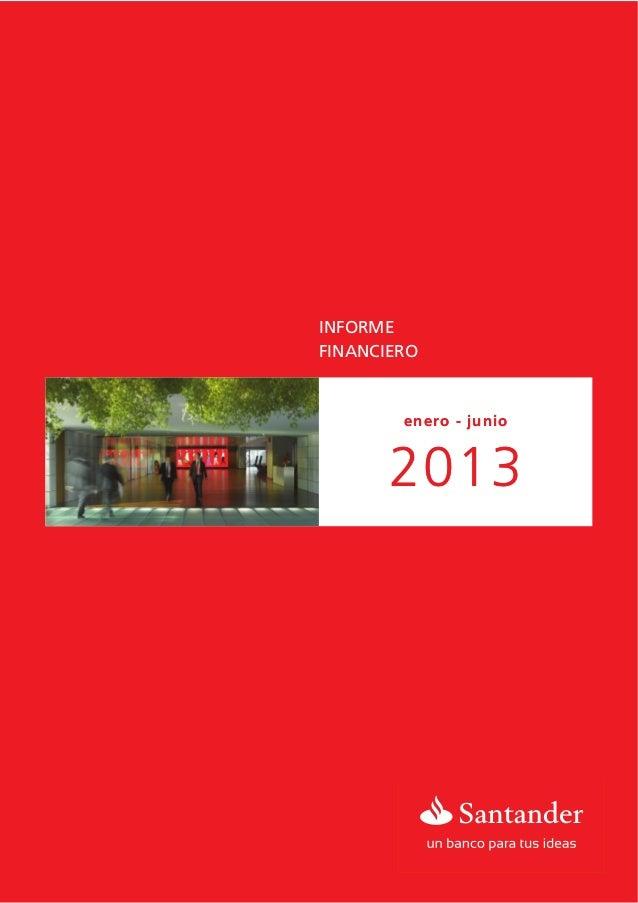 Informe Financiero Enero- Junio 2013