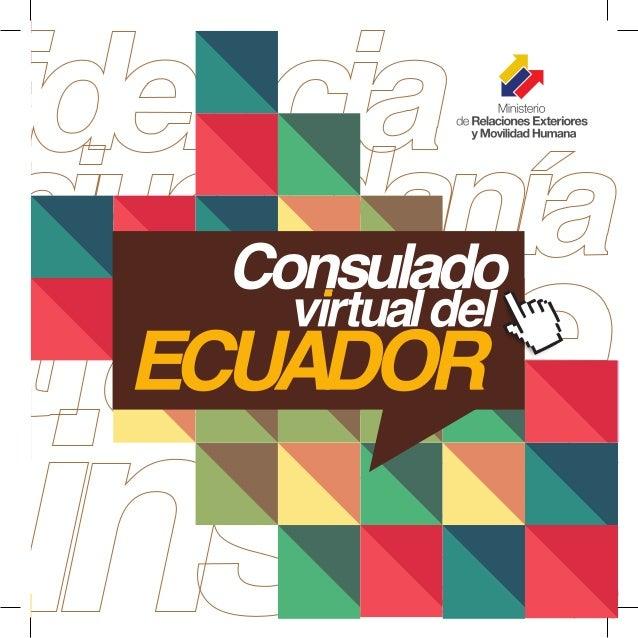Información sobre El Consulado Virtual