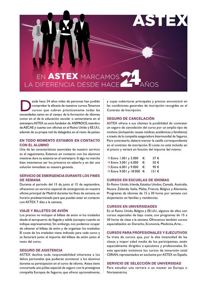 ASTEX         EN ASTEX MARCAMOS    LA DIFERENCIA DESDE HACE                                                             AÑ...