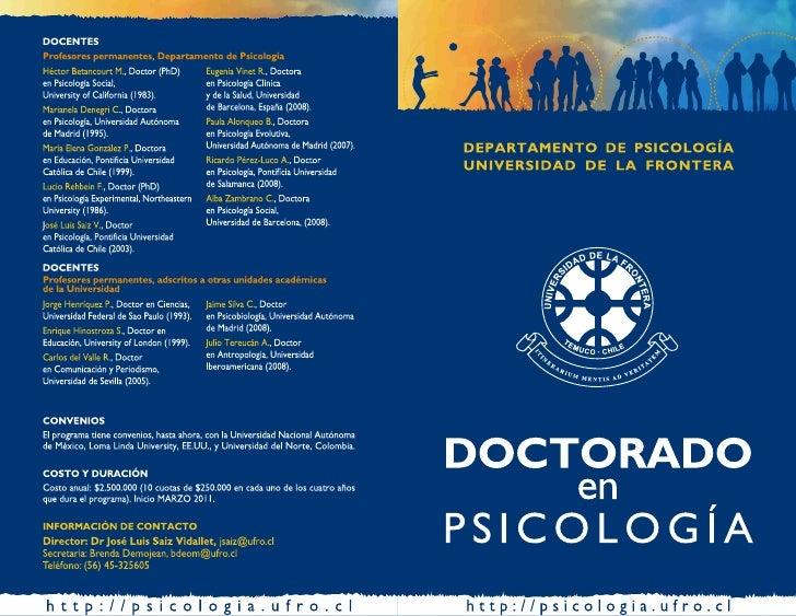 Doctorado en Psicología - Universidad de La Frontera