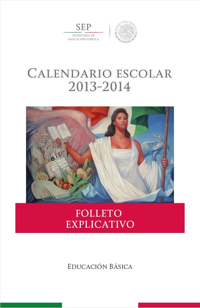 Calendario escolar 2013-2014, folleto explicativo