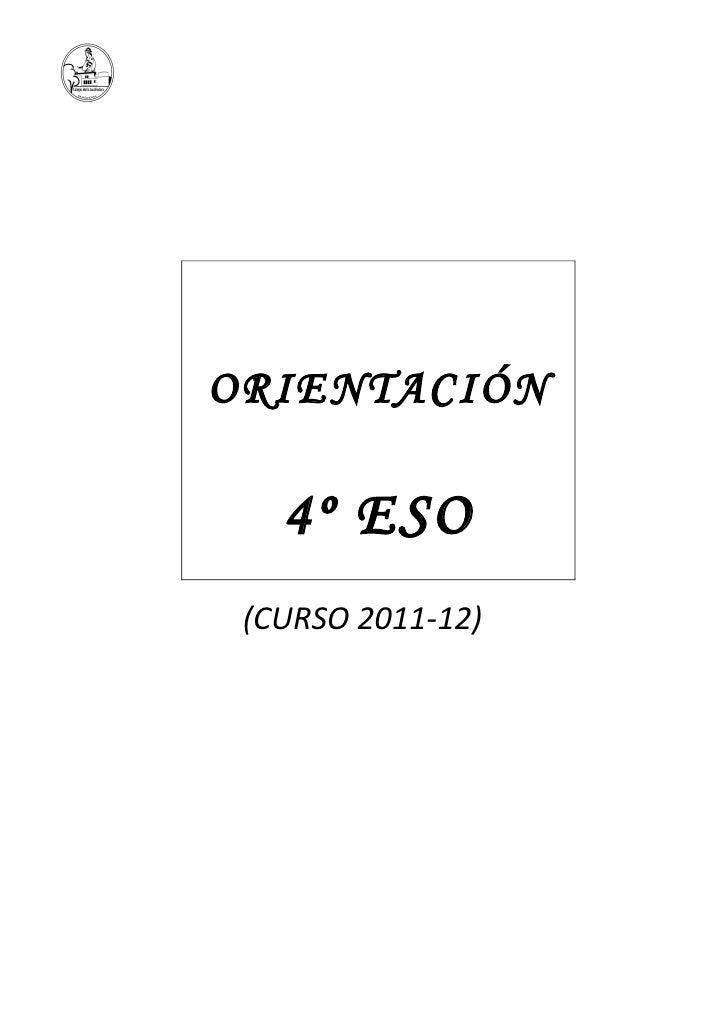 Folleto orientación 2012