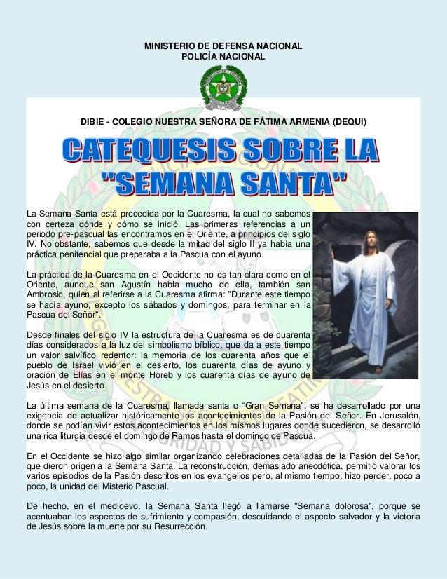 MINISTERIO DE DEFENSA NACIONAL                                     POLICÍA NACIONAL             DIBIE - COLEGIO NUESTRA SE...