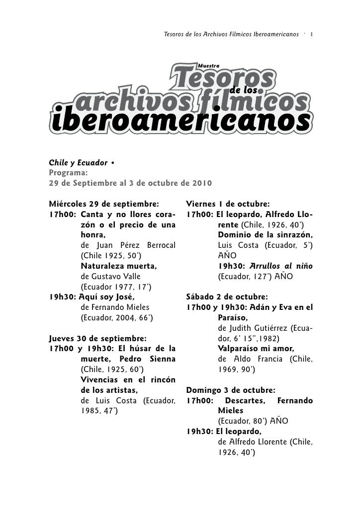 Tesoros de los Archivos Fílmicos Iberoamericanos   •                                                                      ...