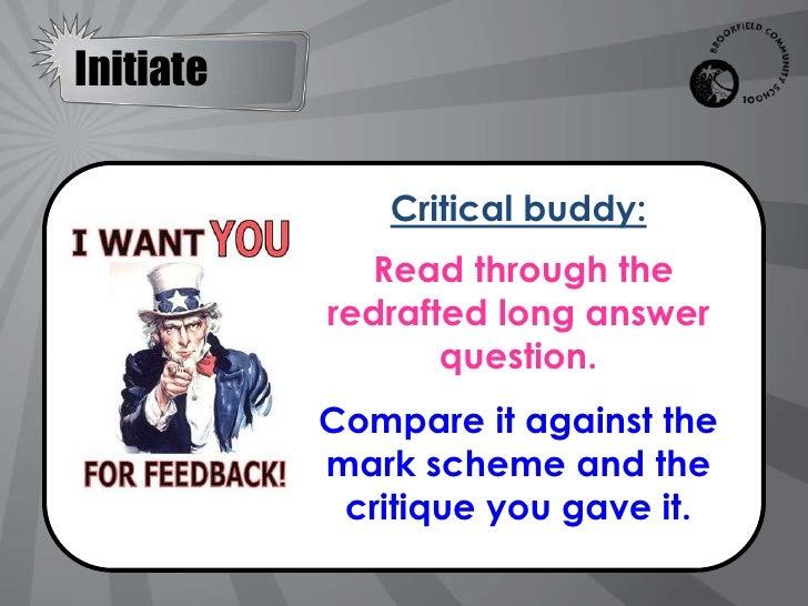 Follow up critique lesson
