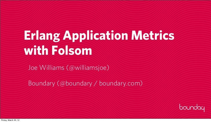 Erlang Application Metrics with Folsom