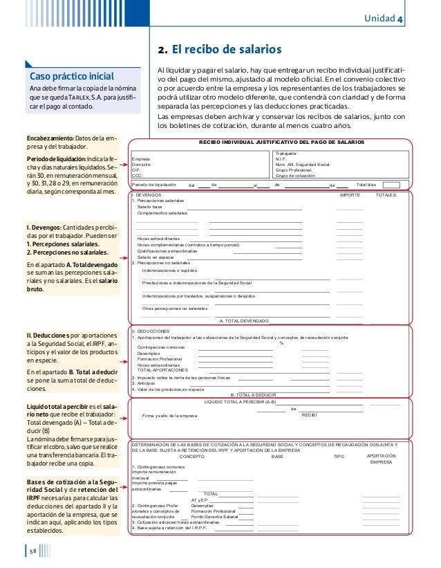 Libro 2 for Modelo de recibo de nomina
