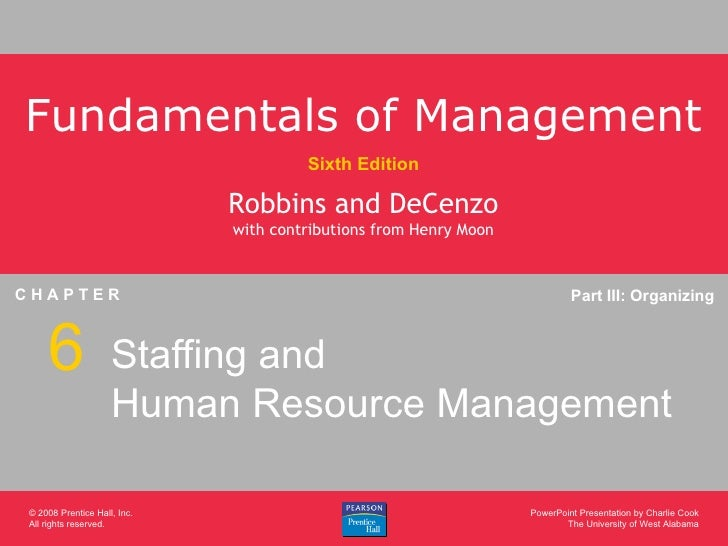 Staffing and Human Resource Management