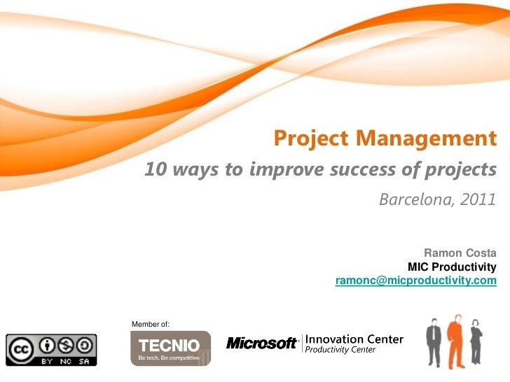 Foment treball columbusit-mic-productivity-pmbestpractices-recommendations-20110630