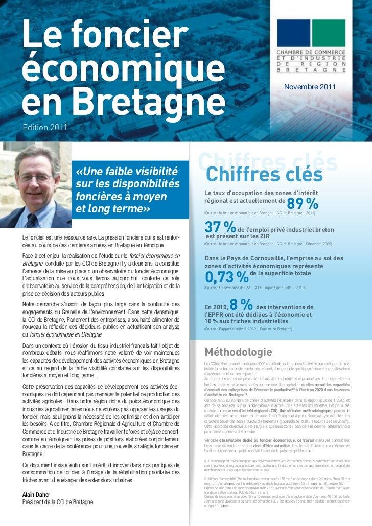 Foncier économique en bretagne - 2011