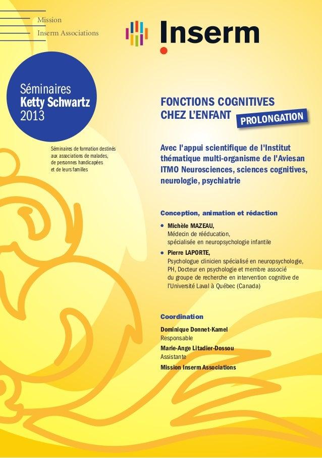 Mission Inserm Associations  Séminaires Ketty Schwartz 2013 Séminaires de formation destinés aux associations de malades, ...