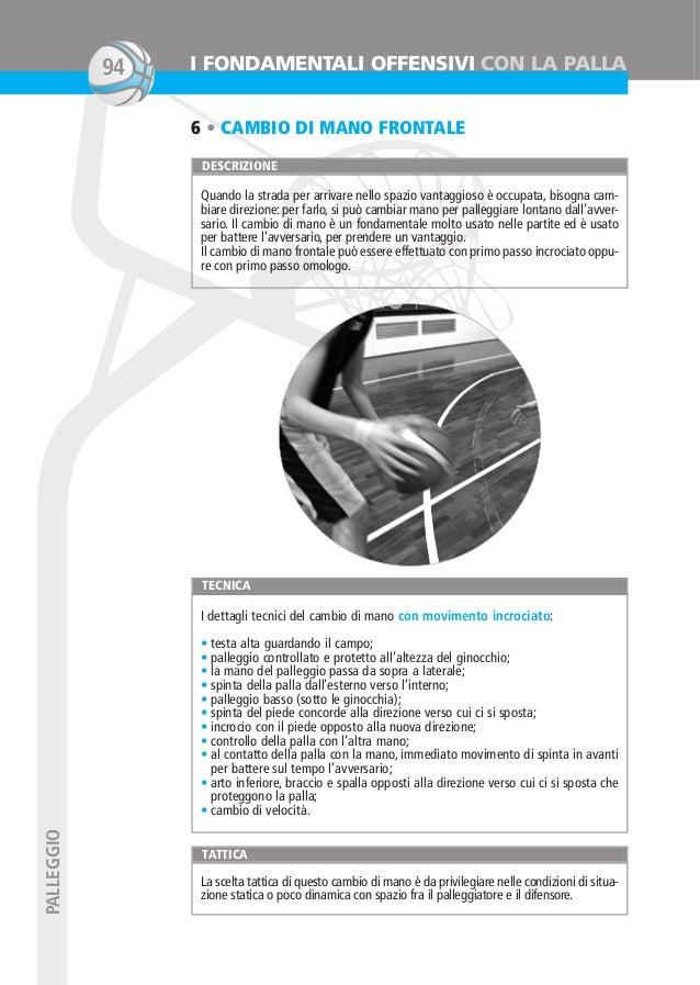 Basket prova(JB)_Layout 1 23/01/14 10:05 Pagina 94  94  I FONDAMENTALI OFFENSIVI CON LA PALLA 6 • CAMBIO DI MANO FRONTALE ...