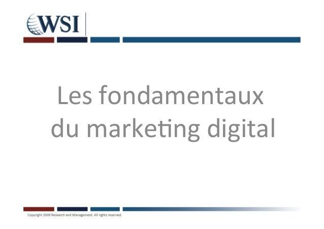 Fondamentaux du marketing digital
