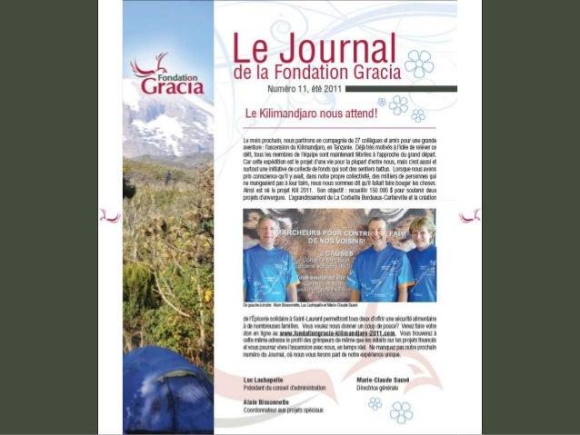 Journal de la Fondation Gracia - Numéro 11