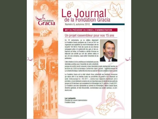 Journal de la Fondation Gracia - Numéro 9