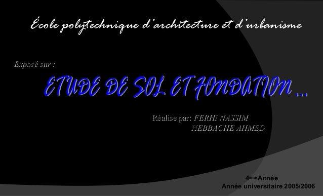 Fondations 03