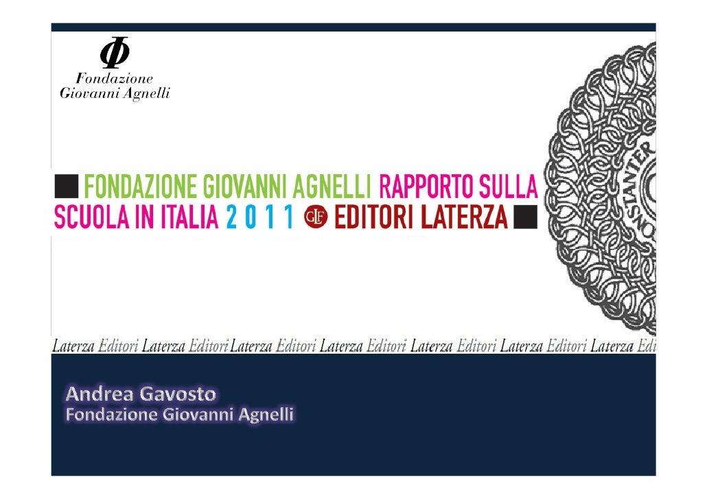 Fondazione agnelli -rapporto_sulla_scuola_in_italia_2011_-_sintesi