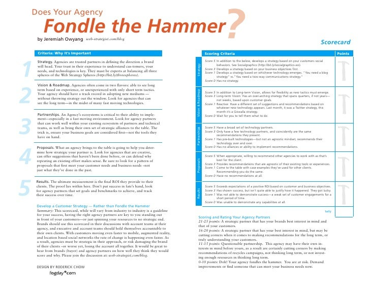 Does Your Agency          Fondle the Hammer     by Jeremiah Owyang             web-strategist.com/blog                    ...