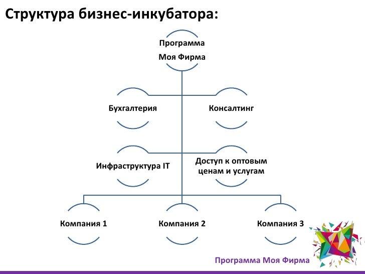 Структура бизнес-инкубатора: