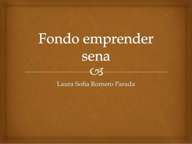 Laura Sofia Romero Parada