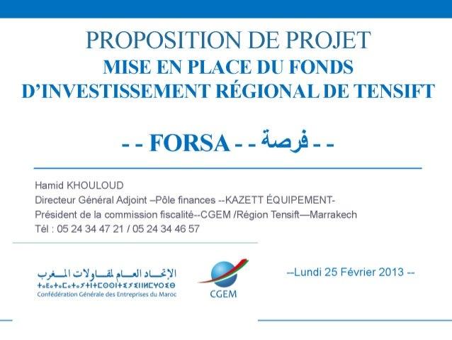 FONDS FORSA MARRAKECH_CGEM-Tensift