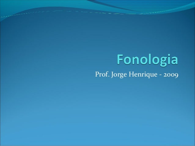Fonologia e fonética