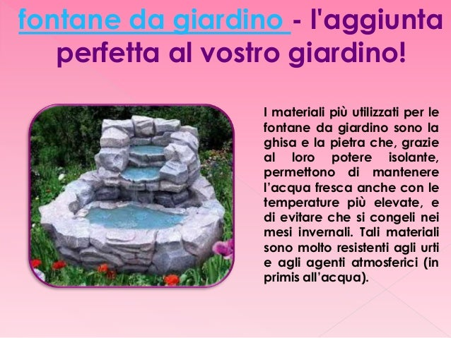 Fontane da giardino in pietra - Fontane da giardino in ghisa ...