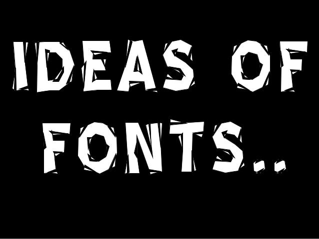 Here are the fonts I liked the look of on the website 'UrbanFonts' I also think they would go well with the style of magaz...