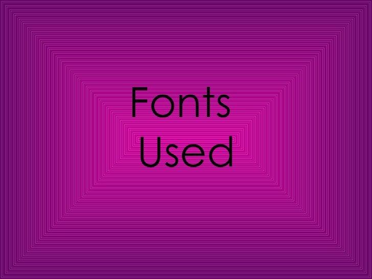FontsUsed