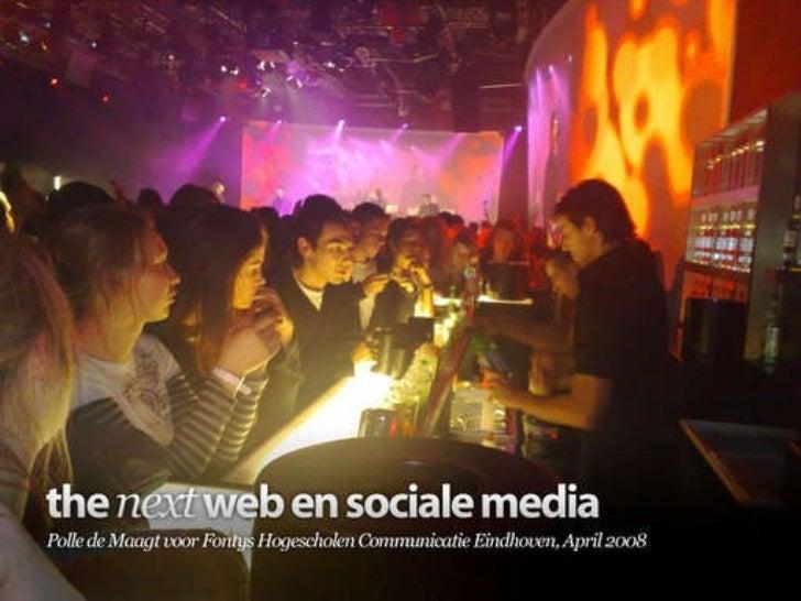The next web en sociale media voor Fontys Hogescholen