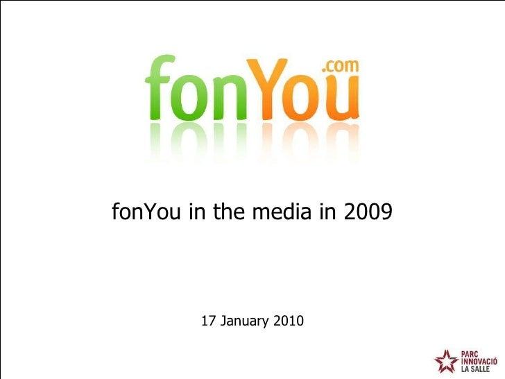 17 January 2010 fonYou in the media in 2009