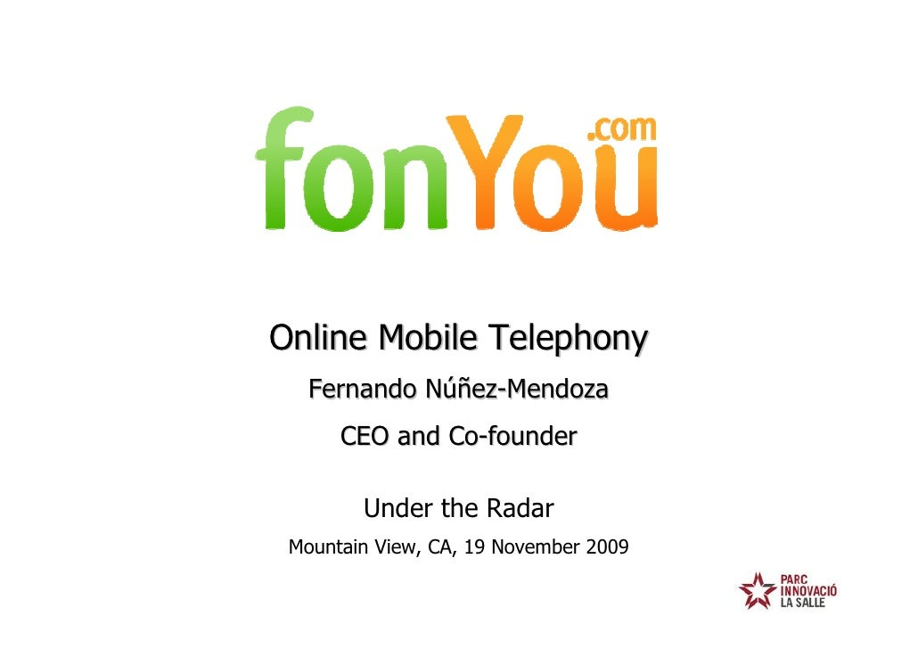 fonYou UTR Presentation 19-Nov-2009