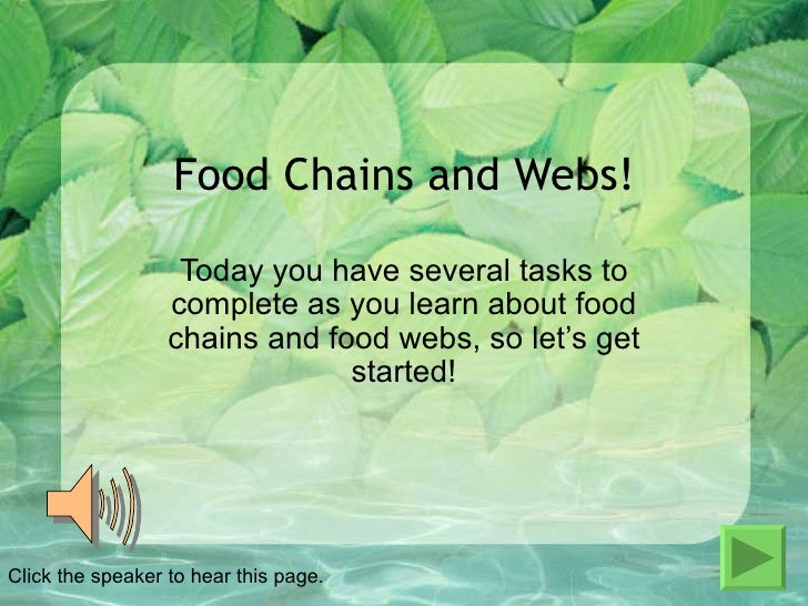 Food Chains Power Lesson