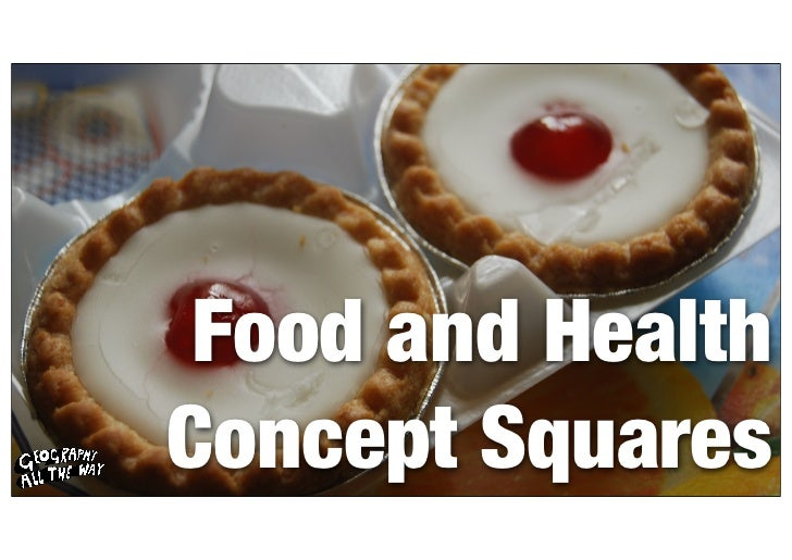 Food and HealthConcept Squares