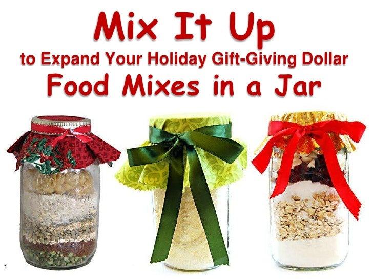 Mix It Up - Food Mixes in a Jar