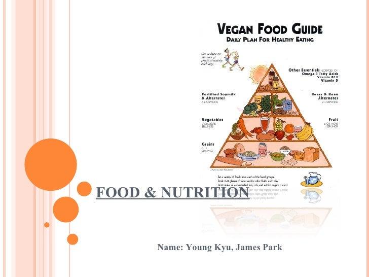 FOOD & NUTRITION Name: Young Kyu, James Park