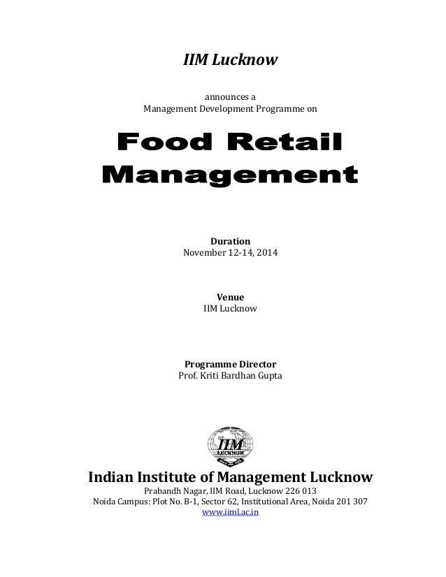 IIMLucknow   announcesa ManagementDevelopmentProgrammeon        Duration November12‐14,2014    Venu...