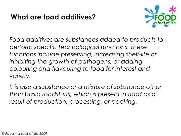 types of food additives pdf