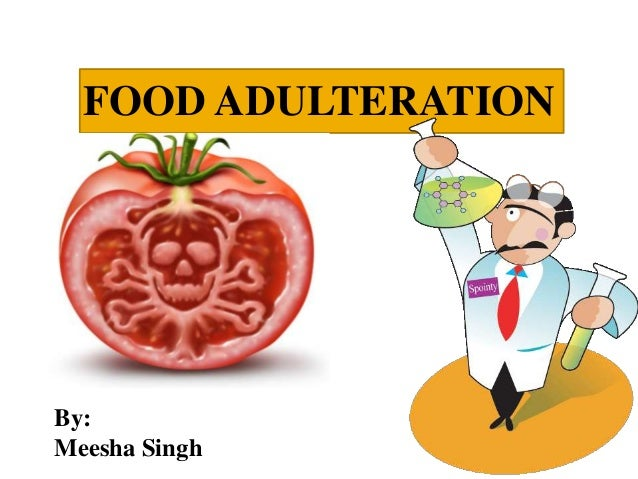 adulteration in food Noun: 1 adulterant - any substance that lessens the purity or effectiveness of a substance it is necessary to remove the adulterants before use.