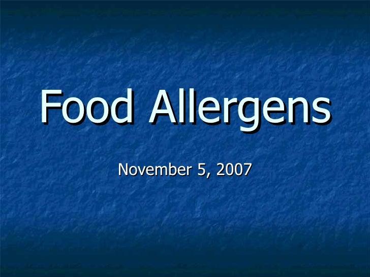 Food Allergens Slide