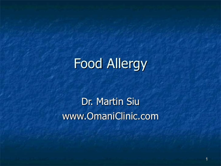 Food allergies among children
