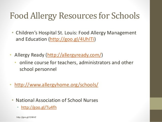 Anaphylaxis at School: Are You Ready