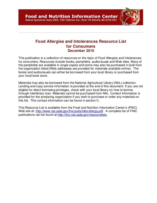 Global Medical Cures™ | Food Allergy Resources (USDA)