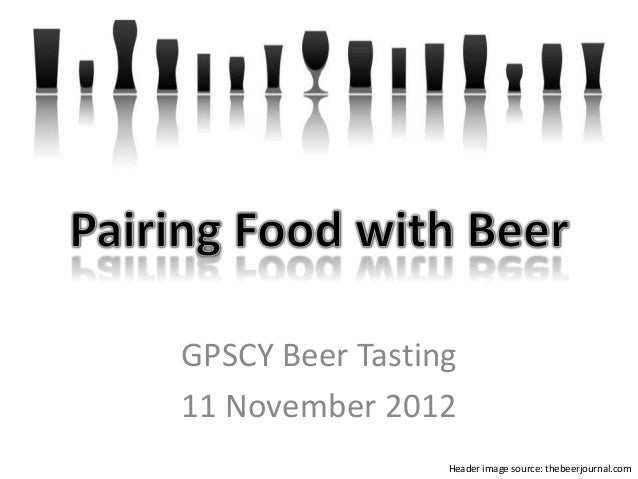 GPSCY Beer Tasting 11 November 2012 Header image source: thebeerjournal.com