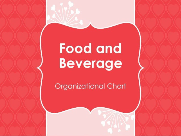Food and Beverage Organizational Chart