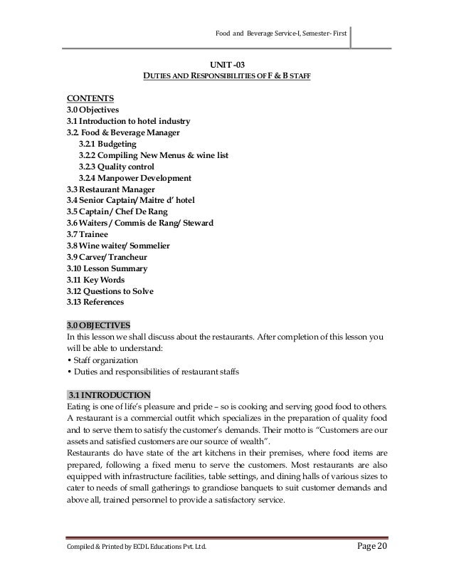 food service manager cover letter - Cover Letter For Food Service