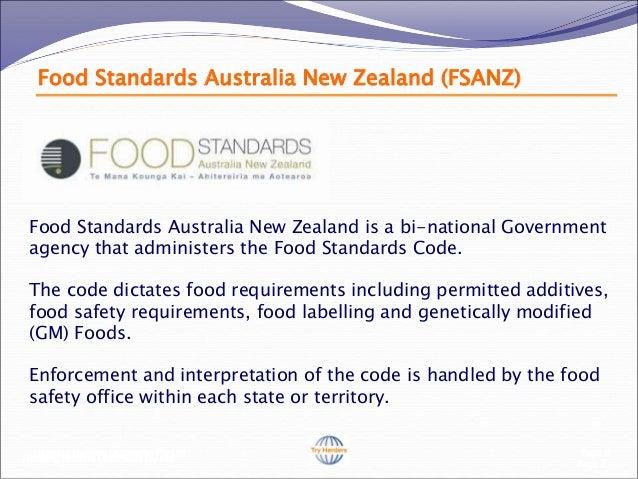 Food Additives Food Standards Australia