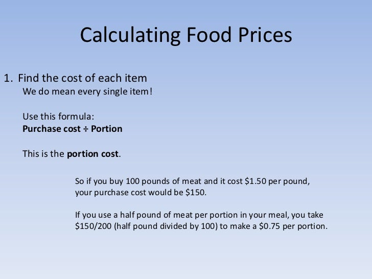 How to calculate food costs and price your restaurant menu for How to estimate the cost of building a home